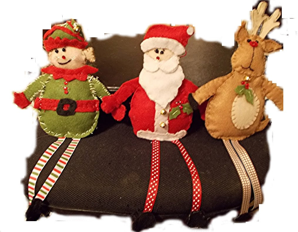 North Pole Friends Christmas Ornaments Set (from kit)