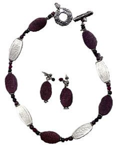 Plum Wine Jewelry Set