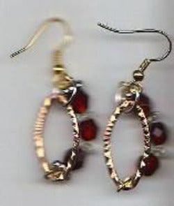 Ruby Hoops Earrings