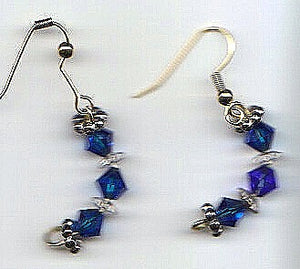 Sapphire Hoops Earrings