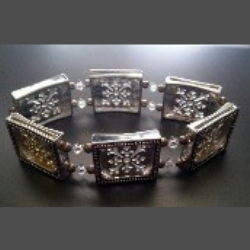 Silver and Crystal Photo Bracelet
