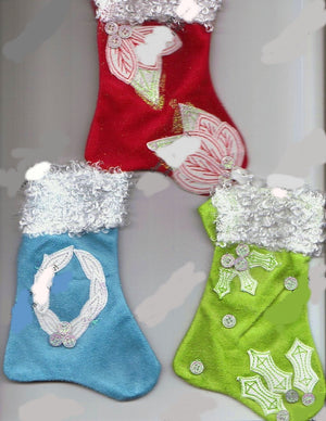 Sweet Suede Stockings Ornaments (from kit)