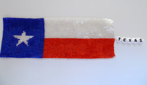 Texas Beaded Bookmark