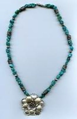 Turquoise and Thai Necklace