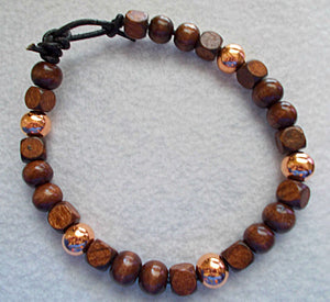 Wood and Copper Bracelet 3