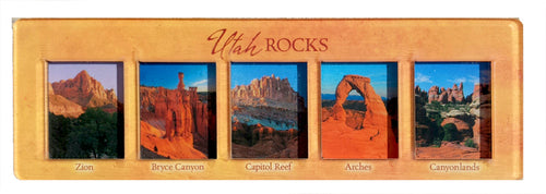 3-D Utah Rocks Panoramic Magnet