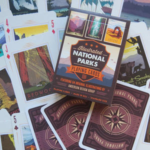 59 Illustrated National Parks Playing Cards