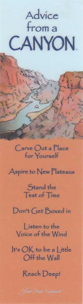 Advice from a Canyon Bookmark