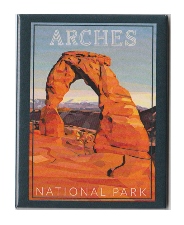 Arches Geometric Design Magnet