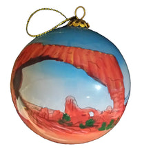 Load image into Gallery viewer, Arches Hand-Painted Glass Ornament