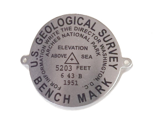 Arches National Park Benchmark Walking Stick Medallion