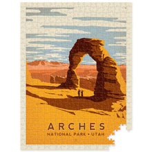 Load image into Gallery viewer, Arches National Park Retro Puzzle