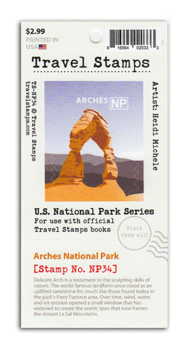 Arches National Park Travel Stamp