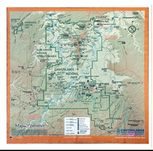 Load image into Gallery viewer, Arches and Canyonlands Map Microfiber Cloth Bandana