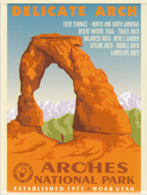 Arches Retro Magnet