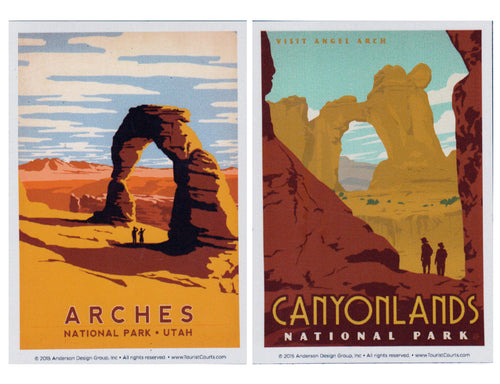 Arches and Canyonlands Vinyl Magnet Set