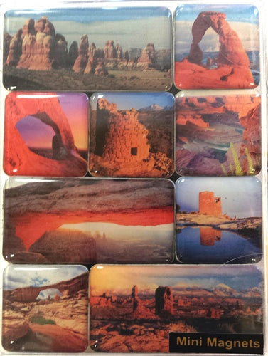Canyon Country Mini-Magnet set