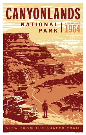 Canyonlands Auto Tour Poster