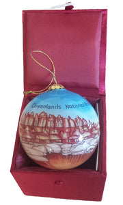 Canyonlands Hand-Painted Glass Ornament