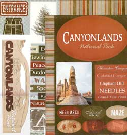 Canyonlands National Park Scrapbook Kit