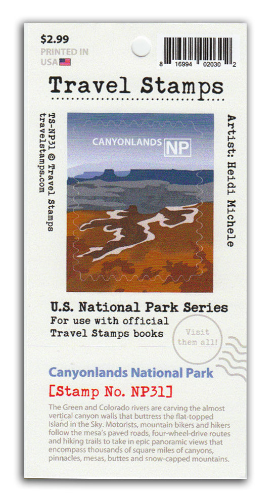 Canyonlands National Park Travel Stamp