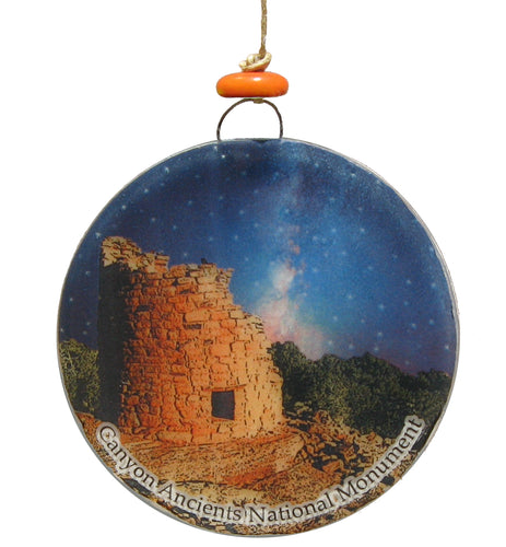 Canyons of the Ancients Glass Ornament/Sun Catcher