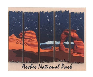 Delicate Arch 2D Wood Magnet
