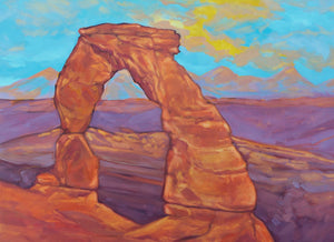 Postcard Delicate Arch Sunset 5x7