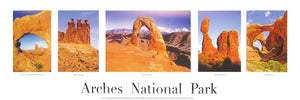 Five Views of Arches National Park Poster