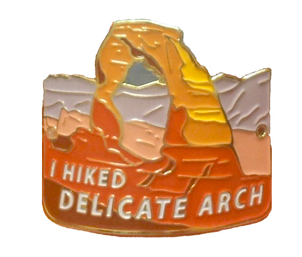 I Hiked Delicate Arch Hiking Stick Medallion