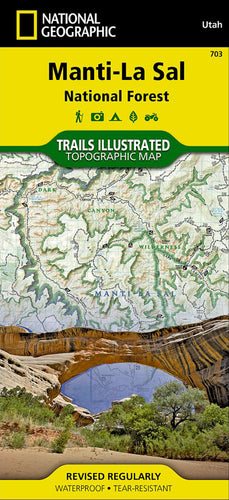 Manti-La Sal National Forest Map: La Sal & Abajo Mtns, Dark Canyon