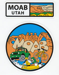 Moab Adventure Stickers