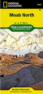 Moab North Outdoor Recreation Map