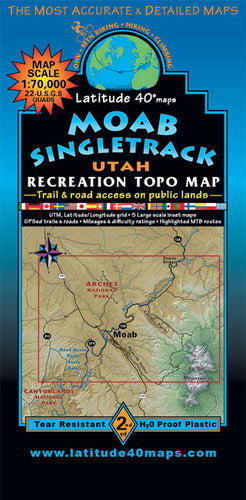 Moab Singletrack Trails Map