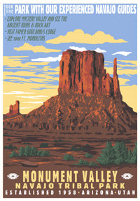 Monument Valley Print - Retro Ranger Series
