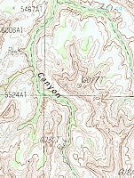 Moss Back Butte 7.5-minute Map