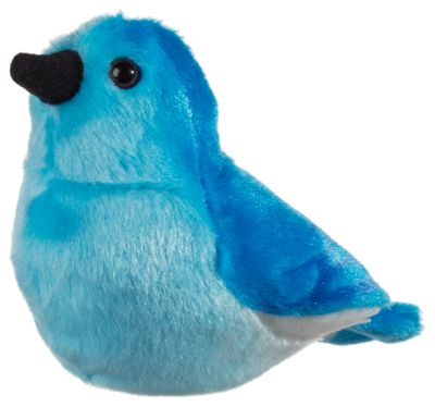 Mountain Bluebird Plush with real bird call