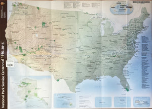 National Park System Centennial 1916-2016 Map