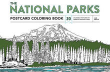 Load image into Gallery viewer, National Parks Postcard Coloring Book