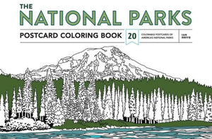 National Parks Postcard Coloring Book