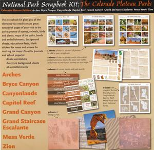 National Parks of The Colorado Plateau Parks Scrapbook Kit