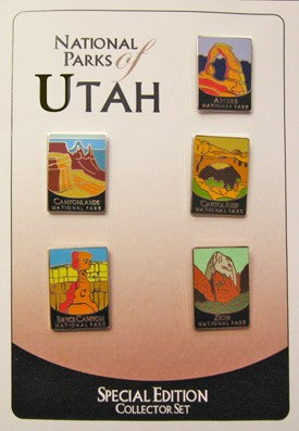 National Parks of Utah Pin Set