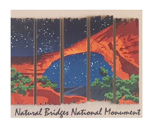 Natural Bridges 2D Wood Magnet