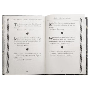 Nature Lovers Quotation Book
