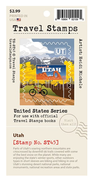 Travel Stamp Utah Sticker