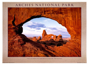 Turret Arch through North Window Poster