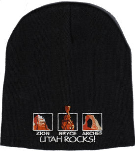 Utah Rocks Knit Cap