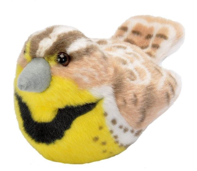 Western Meadowlark plush with real bird call
