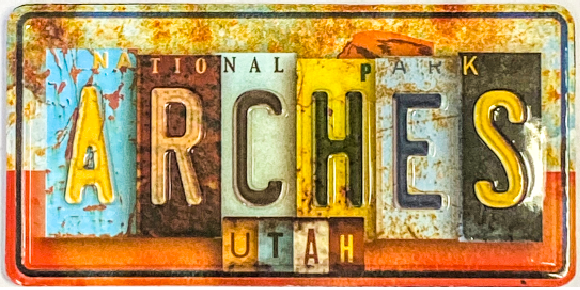 Arches License Plate Magnet