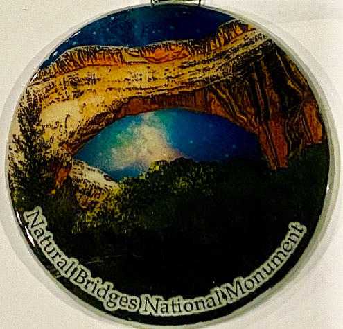Natural Bridges National Monument Night Sky Ornament/ Sun Catcher